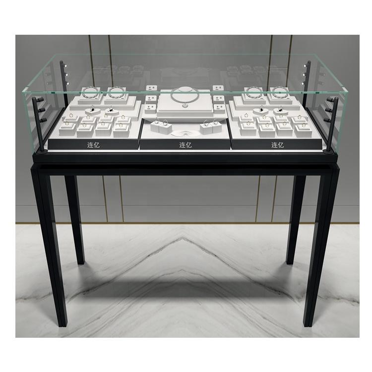 Ontwerp Unieke Sieraden Winkel Tentoonstelling Glazen Display Showcase Kast Voor Sieraden