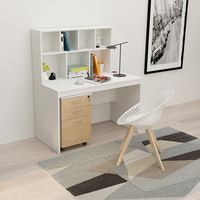 Modern Smart Wood Office Computer Desk with Shelf for Commercial Office Furniture