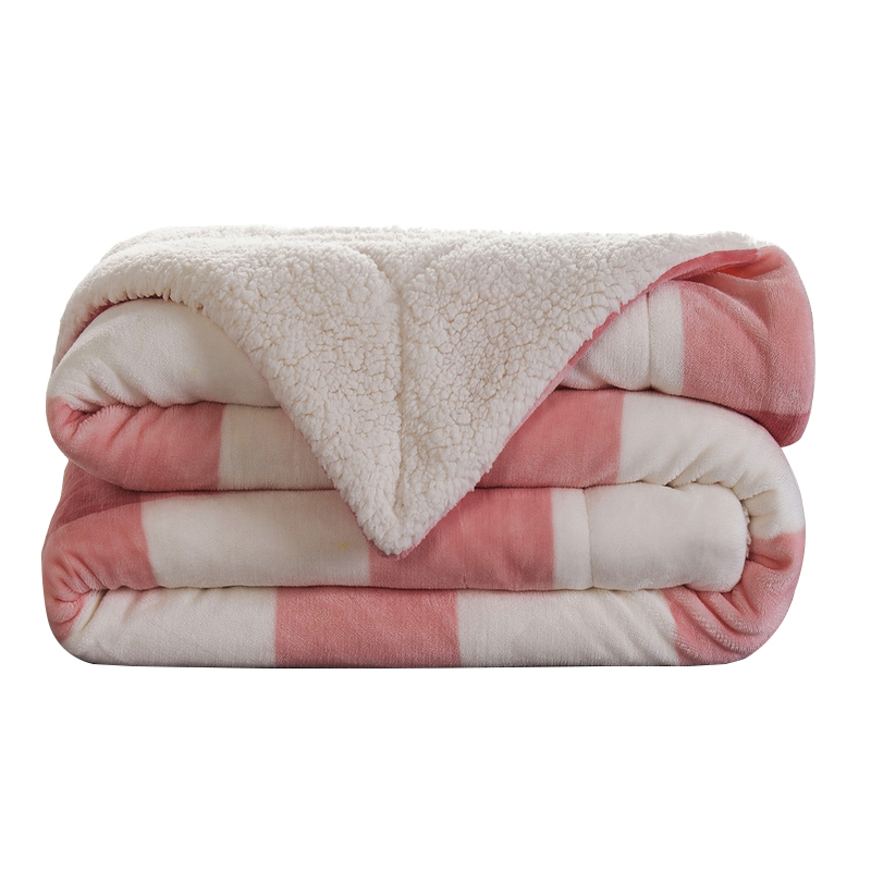 2020 Hot Sale Amazon  Cheap Plaid Fluffy Reversible  Sherpa Fleece Bed Blanket For Winter