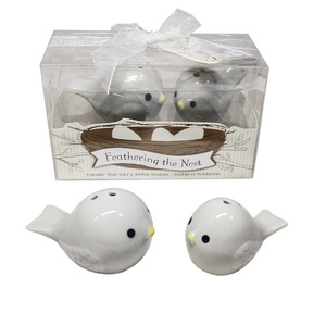 Feathering the Nest Love Birds Ceramic Salt and Pepper Shakers Birthday Baby Shower and Indian Wedding Favors Return Gifts