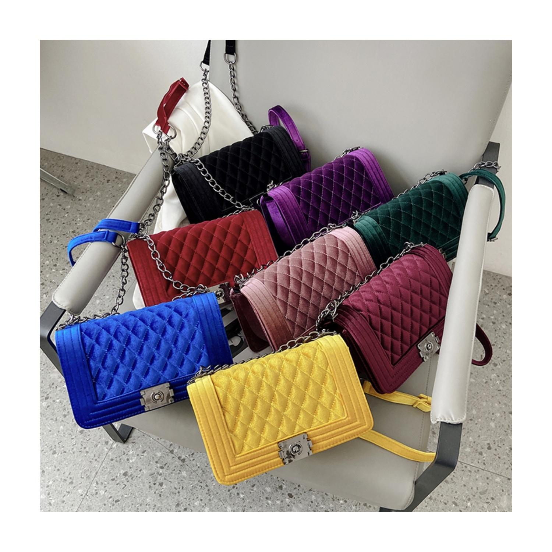 China wholesale luxury handbag side sling shoulder ladies bag designer famous brands jelly velvet purse women hand bags