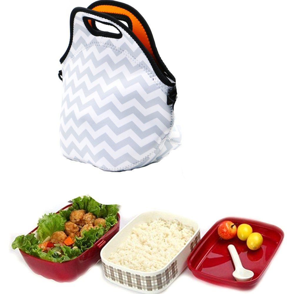 Waterproof Portable Insulation Neoprene Lunch Tote Bag