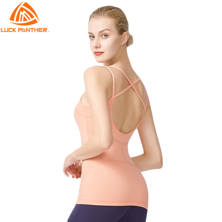 Custom Made Sexy Back Hollow Tops Wholesale Women Sports Tank Top