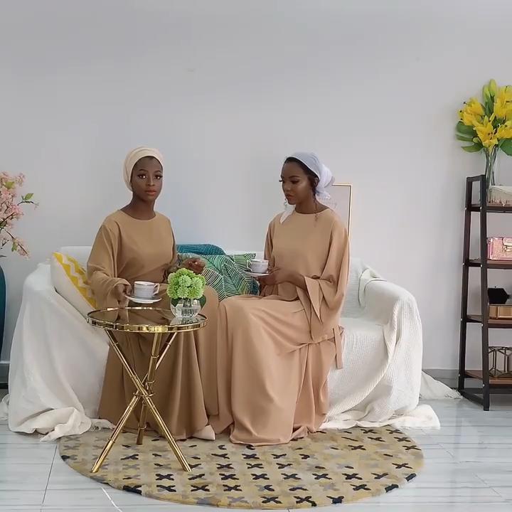 Lebaran Abaya Dubai Turkey Muslim, Gaun Pakaian Kaftan Islami untuk Wanita