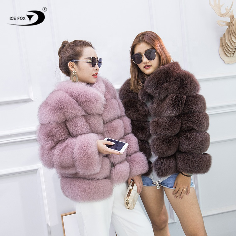 2020 <strong>winter</strong> natural fur <strong>coat</strong> <strong>fashion</strong> women pink super soft warm real fox fur <strong>coat</strong> women
