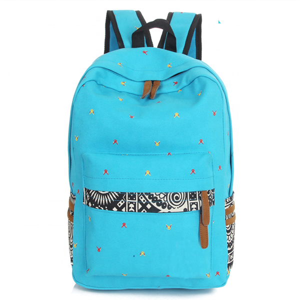 Fashion Personality Canvas School Bags Waterproof Sports Backpack Made In China