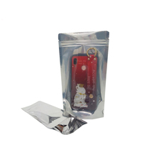 Factory Supply Front Clear Plastic pouch Aluminum Foil Stand Up bag Custom Zipper Bag