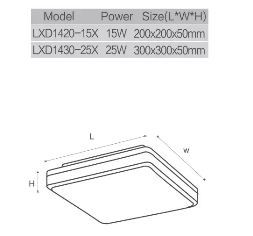 LED Bulk head IP44 round and square LED ceiling light-