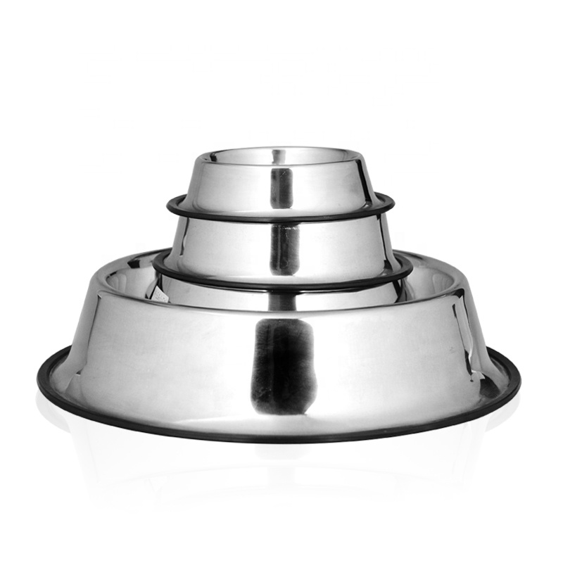 Hottest Collapsible Pet Food Feeding Bowl Stainless Steel Dog Bowl with Non-Skid Edges