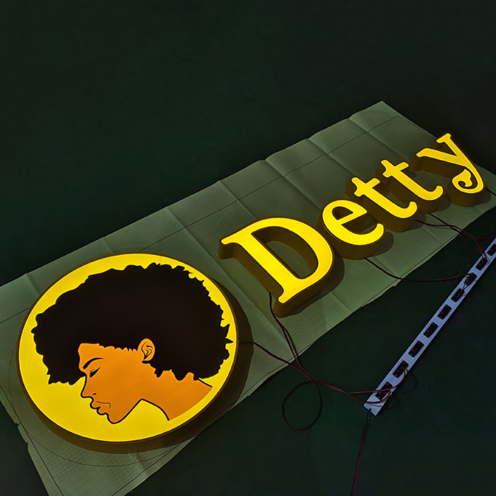 Online Shopping Led Illuminated Salon Letter Sign 3D Beautiful Stainless Steel Barber Signage Logo For Outdoor Advertising
