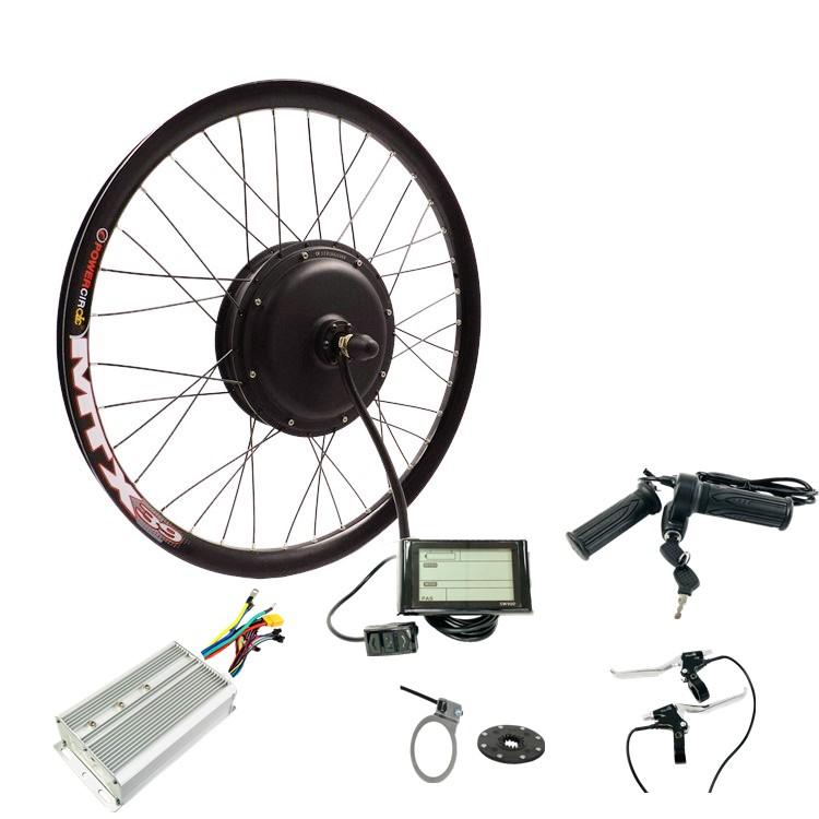 """26 """"cerchio 26 pollici ruota 48v 60v 72v 3000w bicicletta elettrica kit di conversione Ebike kit con regolatore di onda sinusoidale"""