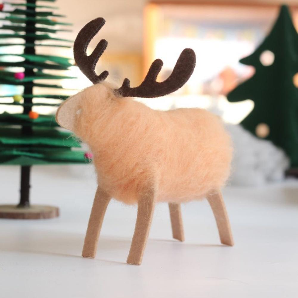 Non-woven Fabric Wool Yarn Roving Reindeer DIY Doll Handmade Decoration Supplies