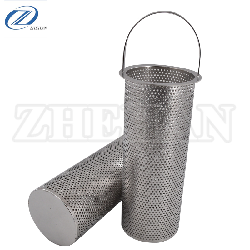 Rvs Mand type filter, olieveld pijplijn filter element