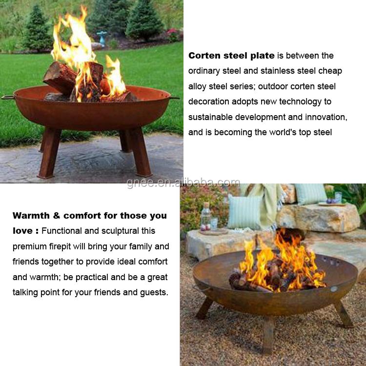 Garden Decorative  Outdoor  Manufacturer Warming Corten Steel Fire Pit