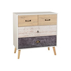 Factory Customized Imitation Antique Wood Storage Many Small Drawer Cabinet With 4 Drawers