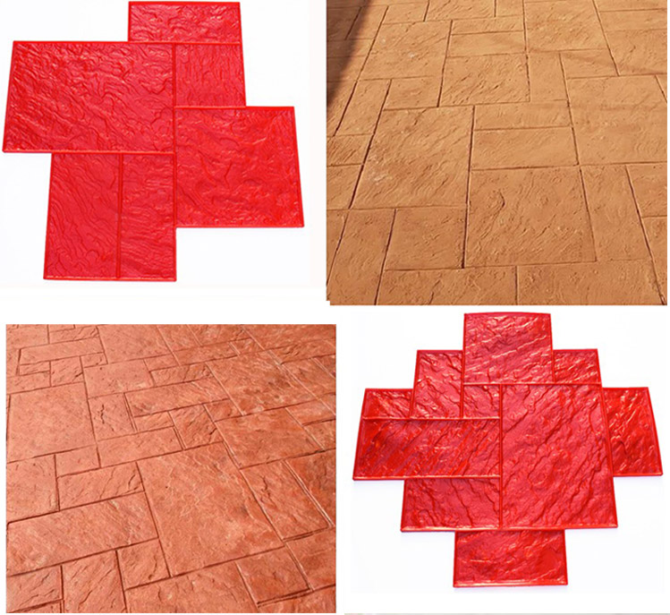 Factory Price PU Stamped Concrete Molds Floor Stamping
