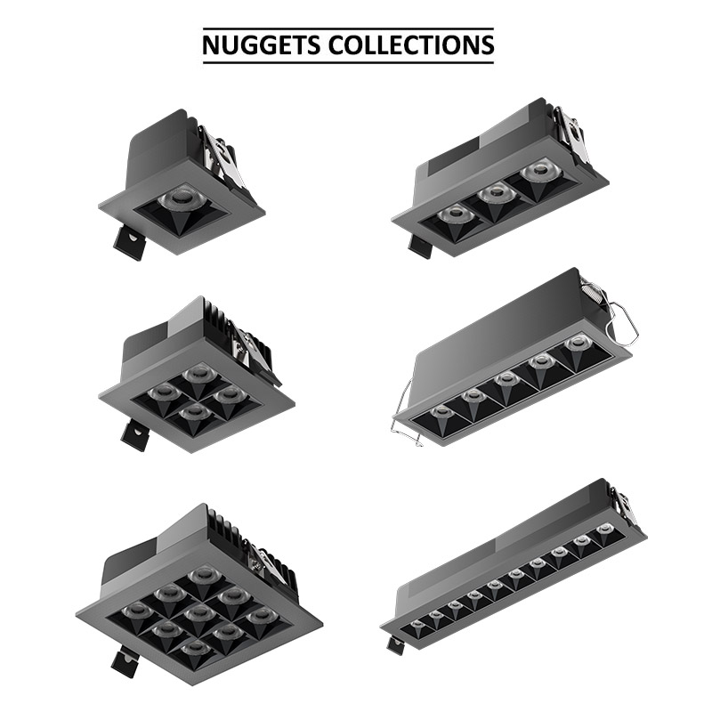 ETL LED Nuggets Recessed Downlight 5 Cells Architectural Cluster Downlight with Separated Junction Box IC Rated 27 Watts