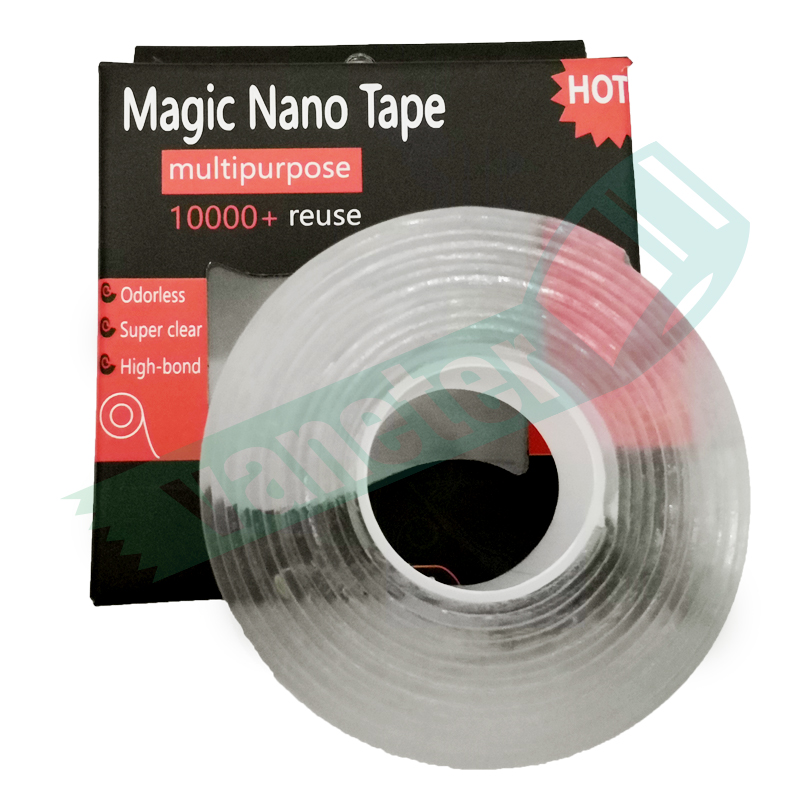 Clear hoge kleverige herbruikbare wasbare removable dubbelzijdig nano magic tape pu gel tape