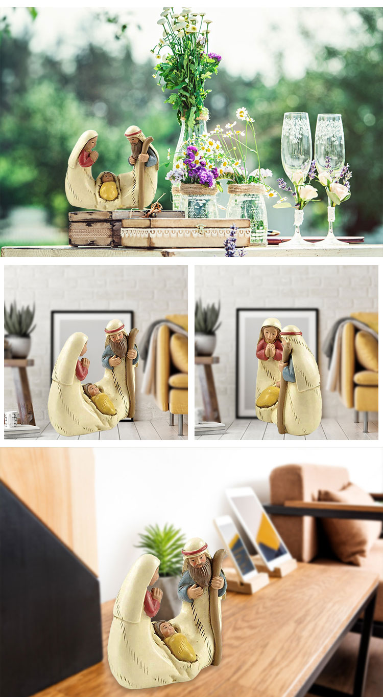 Stock products resin Nativity Set holy family statues Christmas decoration