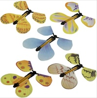 Wholesale Magic Flyer flying butterfly for kid DIY toys decoration colorful ceiling