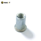 wholesale cheap price countersunk headknurled body stripe carbon steel rivet nuts