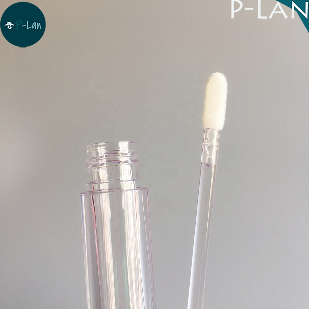 P-lan Stock New Full Clear Lip Gloss Tube Empty Plastic 4ml Lipgloss Container Transparent Liquid Lipstick Makeup Packaging