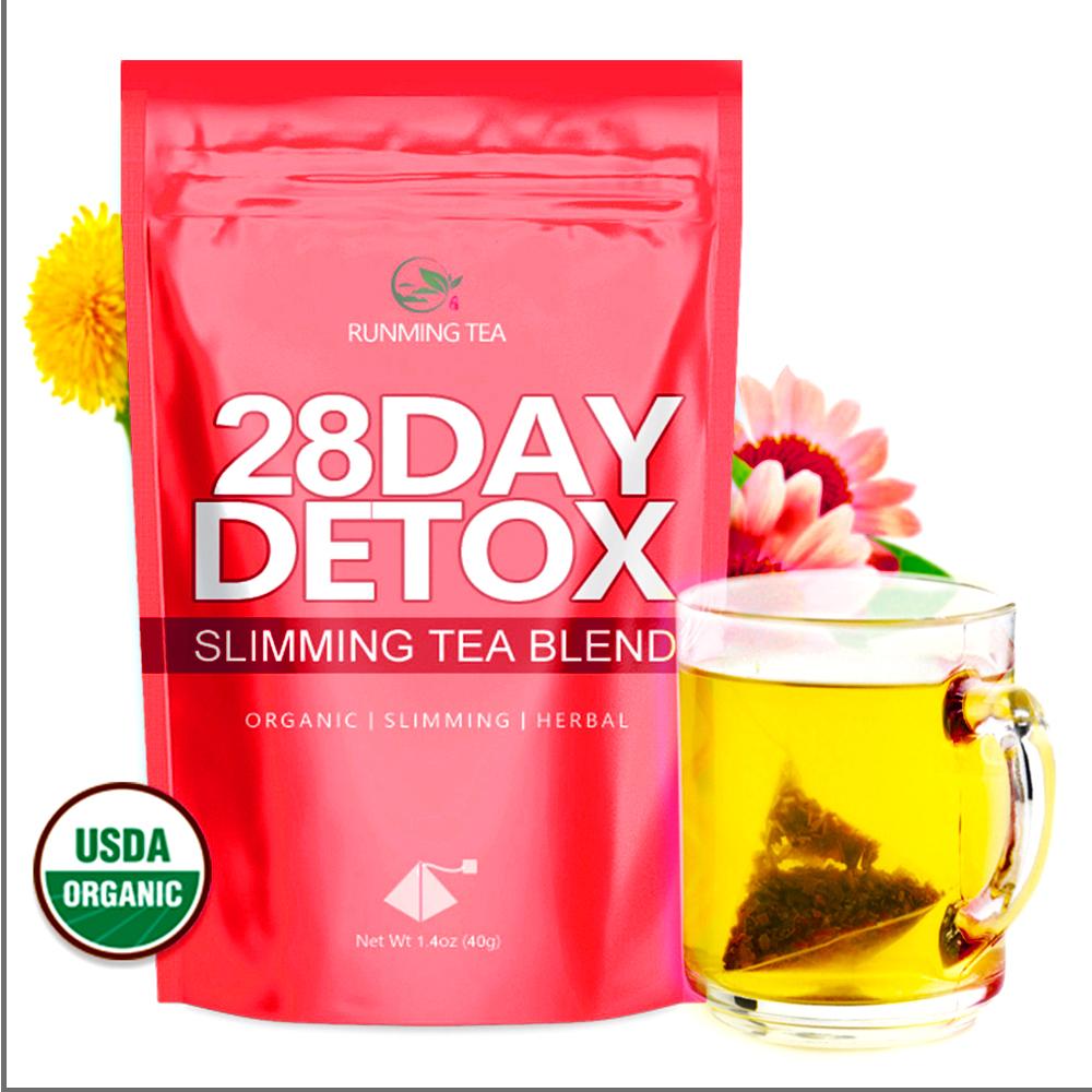Free Sample Organic Wholesale Fast Herbal Malaysia Herb Moringa Slimming Tummy 28 Day and Night Detox Tea - Teatox 56 Tea Bags