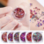 6 Colors Mix Shapes Shining Eyeshadow Cream Makeup Gel Glitter Sequins