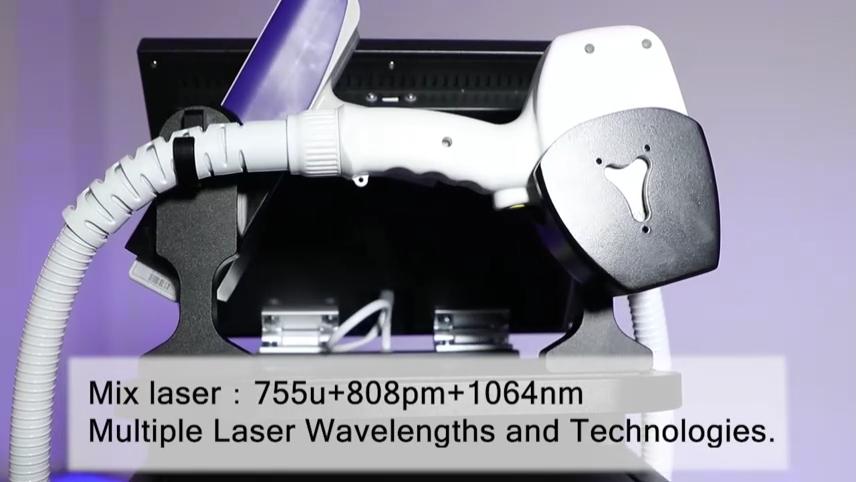 Haut verjüngung Haaren tfernung Tattoo entfernung 2 In 1 ND Yag Laser 755 808 1064 nm Dreifachwellenlängen-Diodenlaser