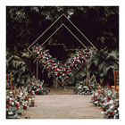 LDJ1124 Cheap stock available garden decorations gold wedding metal backdrops