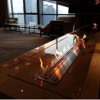 hot sale 72 inch long intelligent smart ethanol electric wall heater fireplace