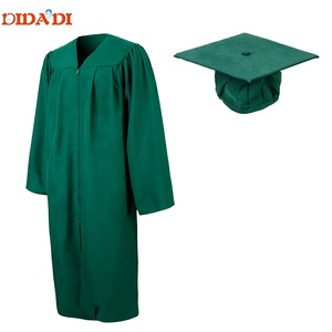 Customized Green Graduation Cap Gown