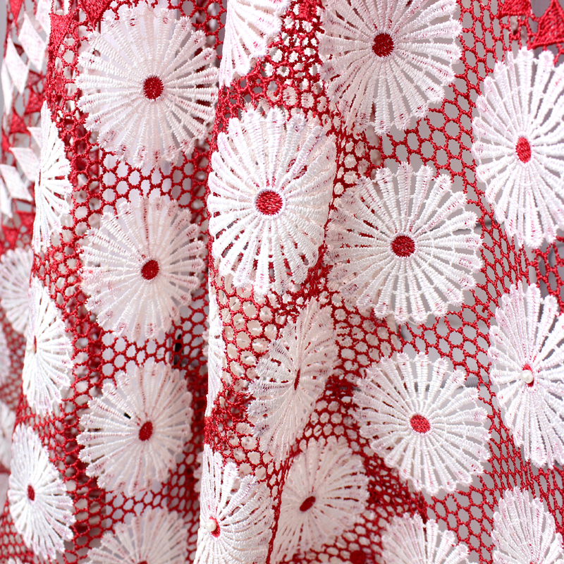 Chinese Wholesale beaded guipure lace water soluble high quality African bridal lace fabric