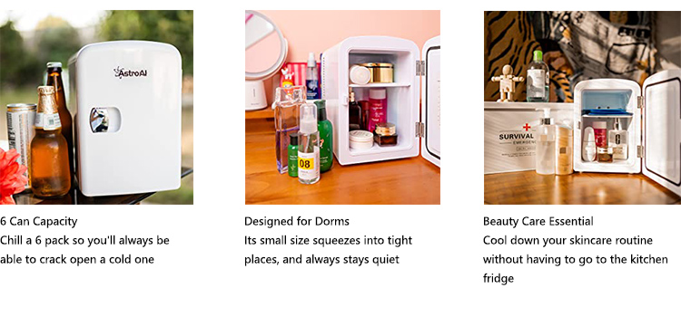 AstroAI 4L Pink Mini Fridge cosmetic, skincare fridge AC/DC Cooler and Warmer Christmas Gift