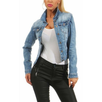 2019 New Faded Wash Jeans Jacket Women Casual Single Breasted Denim Jacket Blue Black Loose Ladies Korean Jacket