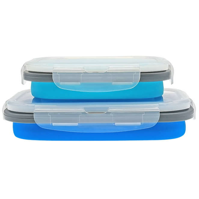 High quality baby food storage containers collapsible silicone meal lunchbox
