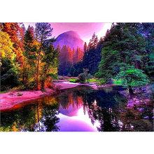 DIY 5D алмазная картина водопад вышивка крестом пейзаж Алмазная вышивка пейзаж Полный Круглый дрель художественная Настенная Наклейка домаш...(Китай)