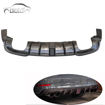LED LIGHT Style Car Styling Carbon Fiber Rear Bumper Spoiler Diffuser for Audi A3 S3 Sline OLOTDI
