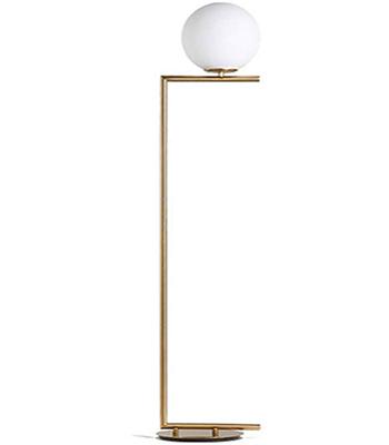 Goldene Glas Ball Boden Lampe LED Schmiedeeisen Standard Lampe Nordic Wohnzimmer Sofa Vertikale Licht Schlafzimmer Nacht Lampe