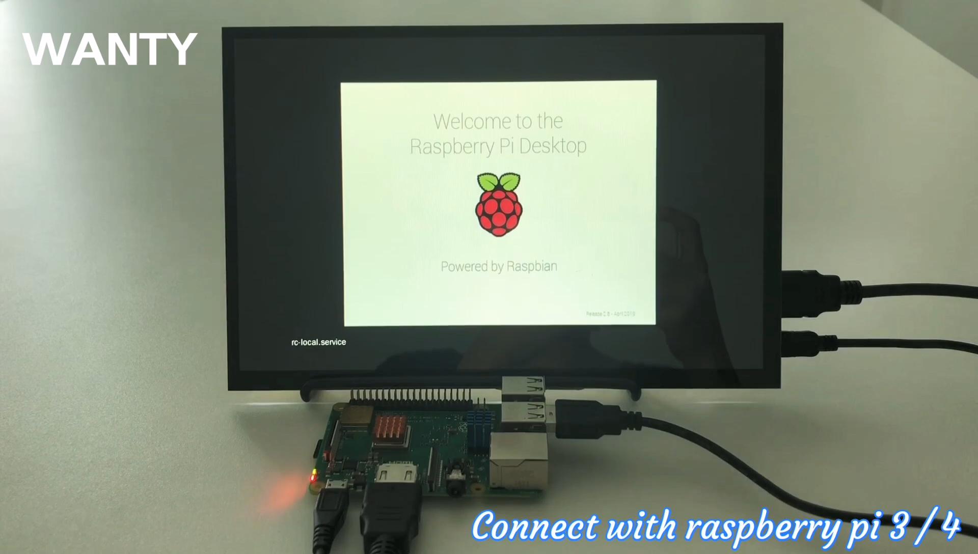 Custom Size 10.1 Inch 1280x800 IPS Screen TFT Panel USB Touch Display Raspberry Pi 3 Monitor