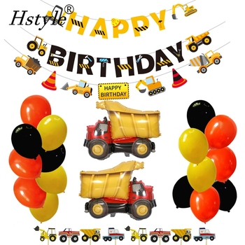 Construction Birthday Party Supplies Dump Truck Party Decorations Kits Cars Trucks Birthday Sign With Garland SET003