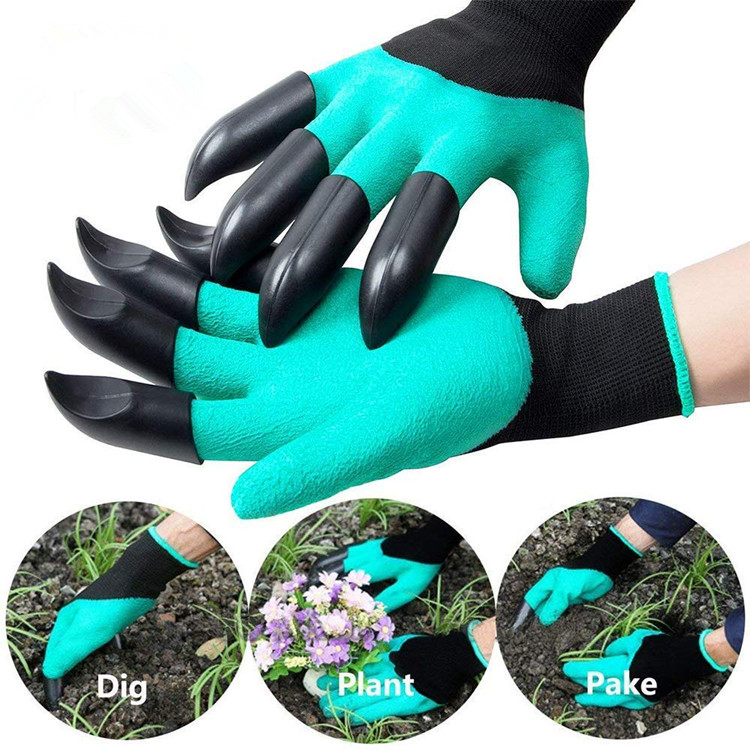 Waterproof and Breathable Wholesale Garden Genie <strong>Gloves</strong> with Claws for Gardening Digging and Planting