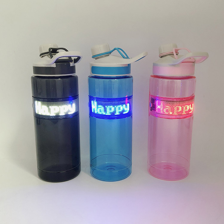 Portable Smart Drink Water Bottle with bluetooth Control LED Display