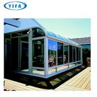 RETRACTABLE ALUMINIUM GLASS SUNROOM SYSTEMS WITH LAMINATED GLASS AND MOTORIZED OR MANUEL TURKEY ISTANBUL