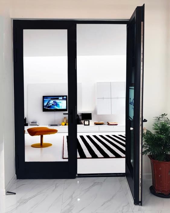 Modern Residential Large Aluminum Double Hinged Patio Doors