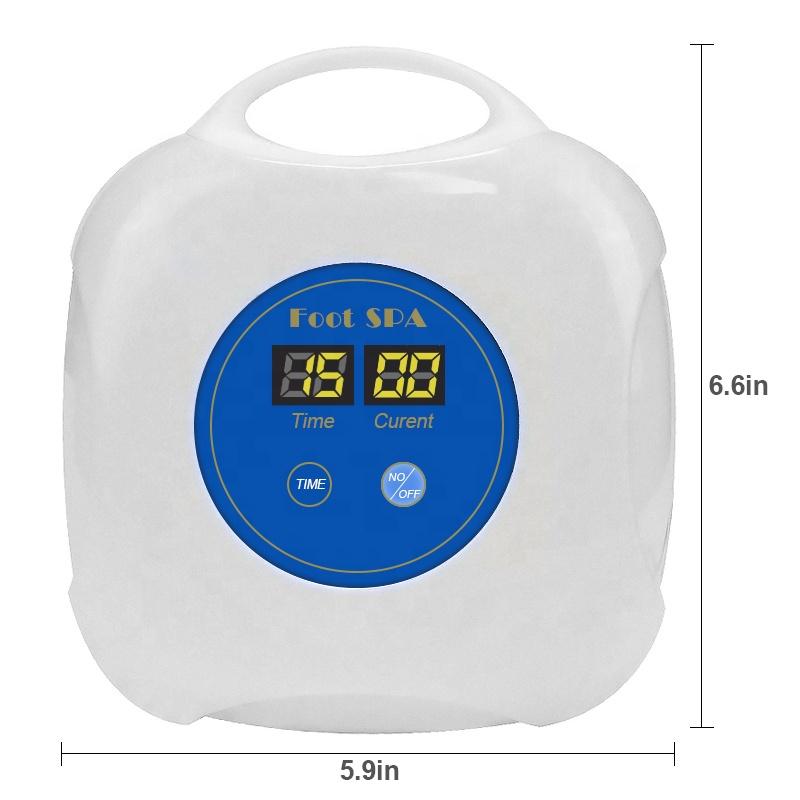 Home Use Portable Ionic Detox Foot Spa Machine Mini Ionic Foot Bath Machine With Array