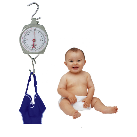 Hanging mechanical baby electronic weighing scales 25kg