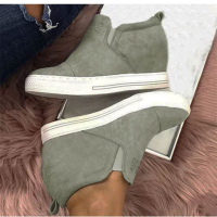 B001 Women Platform Sneakers Ladies Casual Wedges Increasing Shoes Summer Ladies Trainers Ankle Shoes