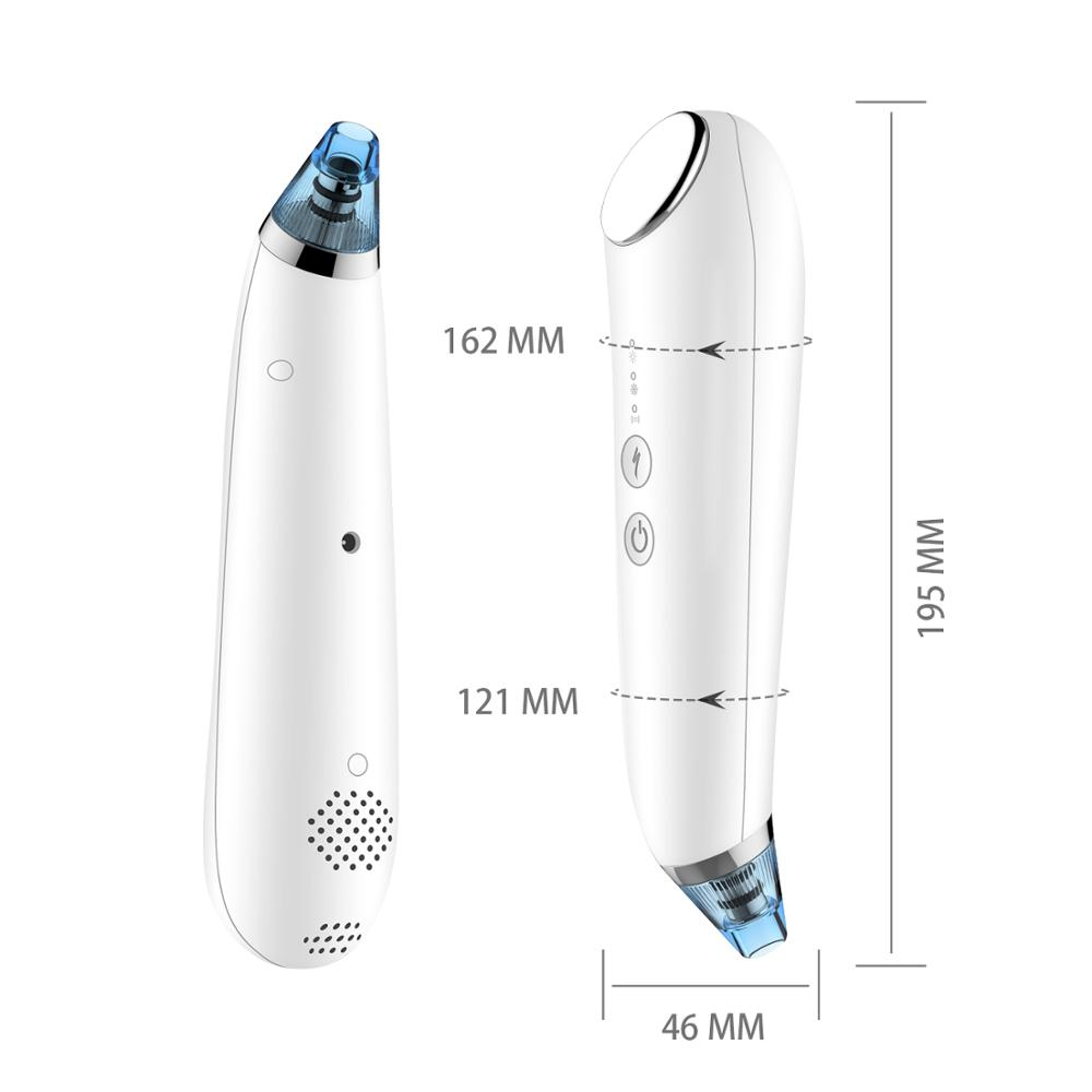 New design handheld pore cleaner strong suction blackhead remover vacuum