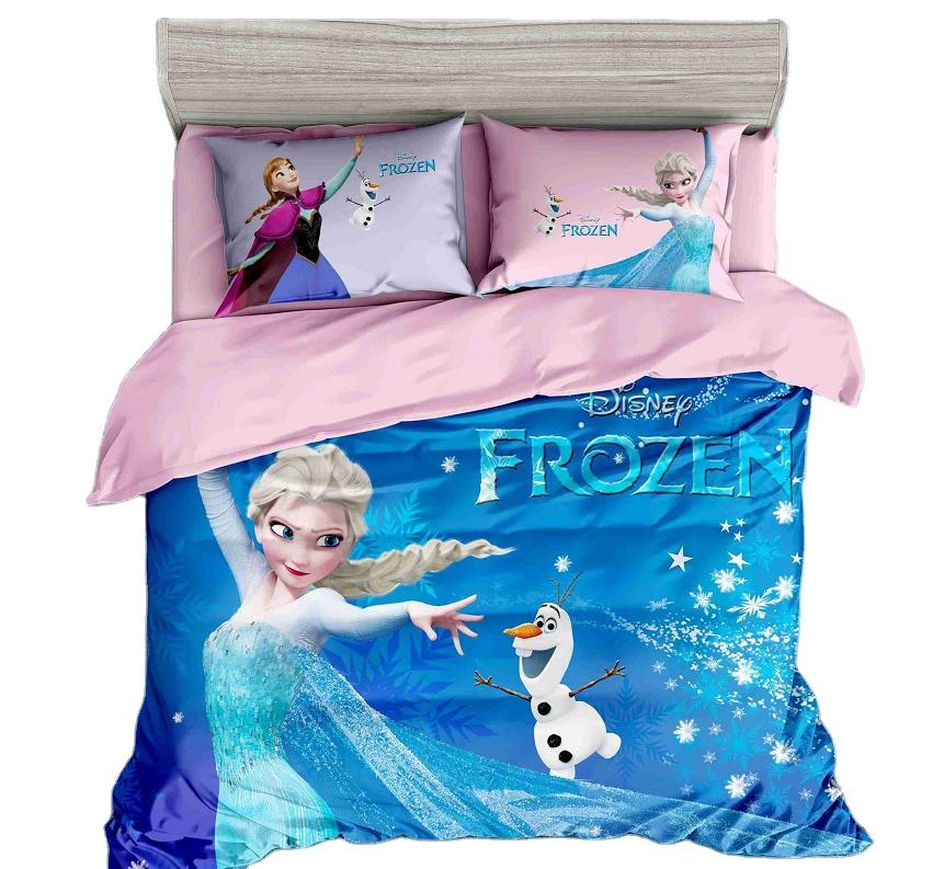 100% Microfiber 3PCS Bedding Set Kids Frozen SOFIA Princess Cartoon Bed Sheets 3D Digital